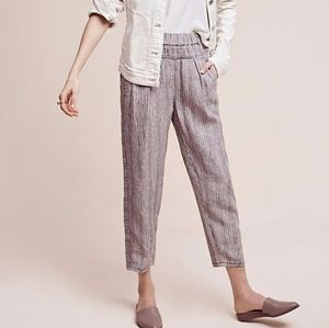 Hei hei/anthropologie linen cropped high pants xxs